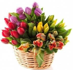 443133c9a60e0 Купить корзину цветов в Минске - букеты цветов в корзине, купить ...