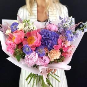 Букеты цветов свадьбы пионы